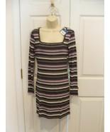 NWT $42 ARIZONA BLACK STRIPE BODY CON DRESS  SIZE JR. MED fits 5-7 - $29.69