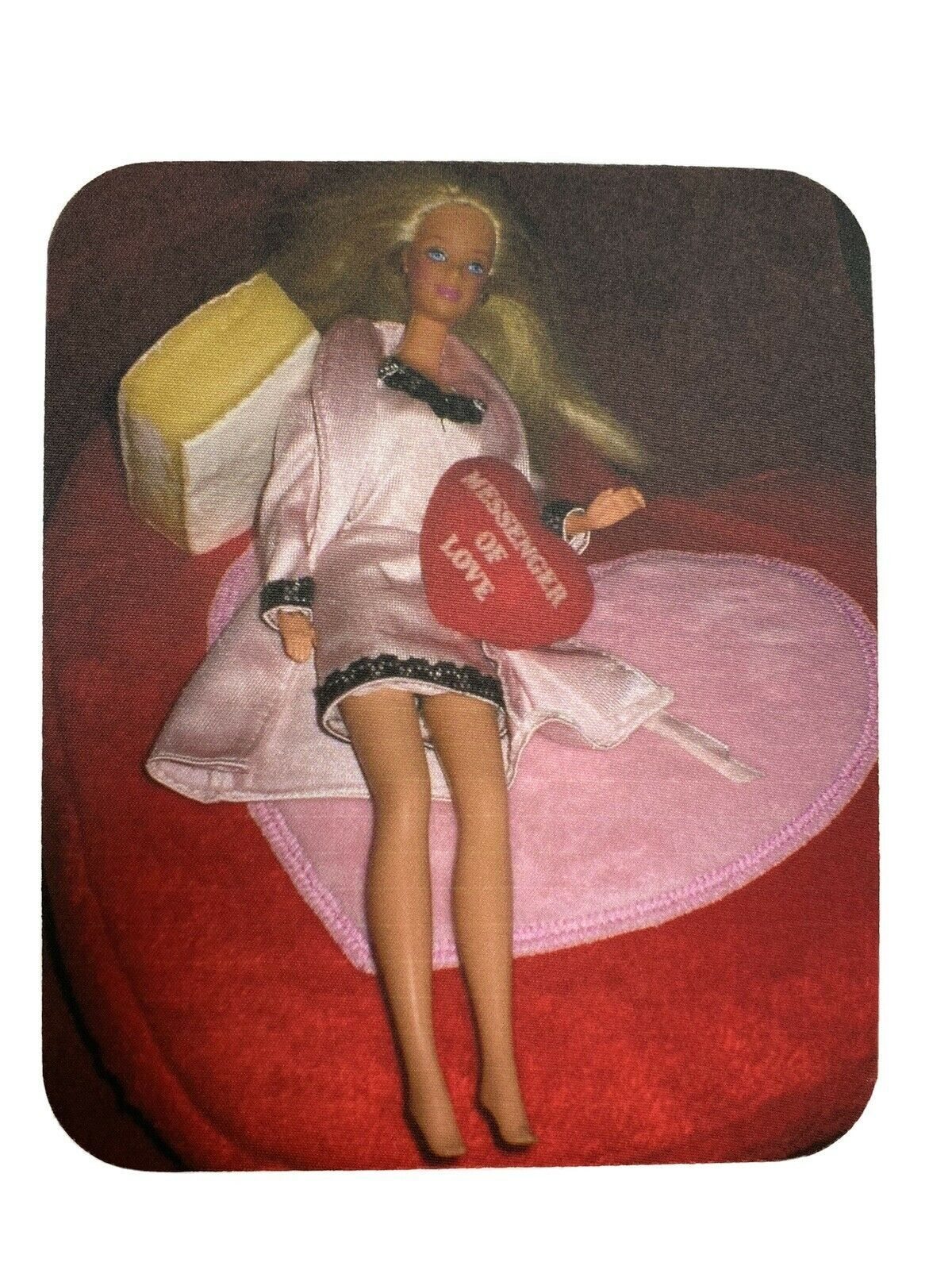 Primary image for Vintage Barbie Computer Mouse Pad 9 1/4x8