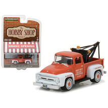 1956 Ford F-100 Red and White with Drop-in Tow Hook The Hobby Shop Serie... - $13.15