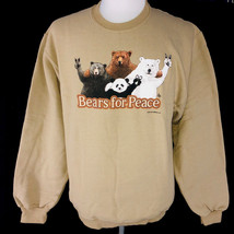 Bears For Peace Sweatshirt S M L XL JerZees Unisex New NWT - $25.25