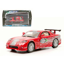 Doms 1993 Mazda RX-7 Red The Fast and The Furious Movie (2001) 1/43 Diec... - $27.20