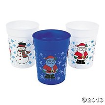 One Dozen Plastic Holiday Cups/CHRISTMAS Cups/Christmas Tableware and Pa... - $9.66
