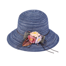 K Summer Floppy Straw Hat Women Ladies Wide Brim Beach Hat Sun Foldable Cap Fema image 2