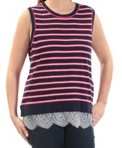 Tommy Hilfiger Womens Navy Striped Lace Sleeveless Blue Top 0X 4560-3 - $18.32