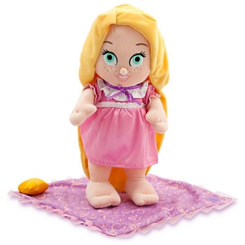 "Disney Parks 10"" Baby Princess Rapunzel Plush Toy With Blanket New With Tag"
