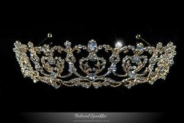 Olina Heart Cluster Gold Tiara | Swarovski Crystal - $78.95