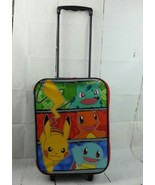 Licensed Nintendo Pikachu Pokemon Go Rolling Suitcase Kids/Child Travel ... - $35.52