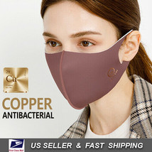 Copper Infused Face Mask Reusable Washable (Made In Korea)_WINE - $8.91