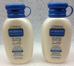 L'OREAL HYDRAVIVE PERFORMANCE GENTILE SHAMPOO 2 4OZ BOTTLES - $16.09