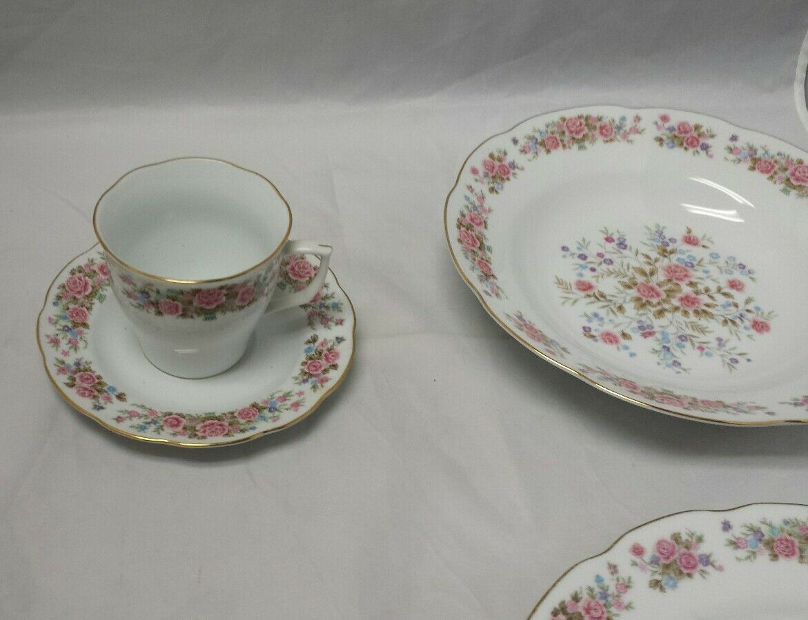Remington Fine China: Spring Garden by Red Sea, Plate, Soup Bowl, Tea Cup Saucer image 4