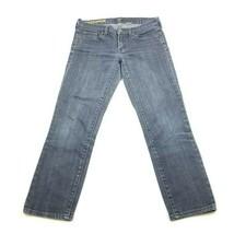 J Crew Jeans Womens Size 28 Toothpick Straight Stretch Denim Capri - $24.04