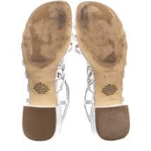 Nine West Xerxes Caged Block Heel Sandals 655, White, 5.5 US image 6