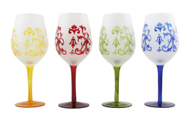 Multi Color 16 Oz Wine Cup Goblets In Frosted Matte Finish - $31.57