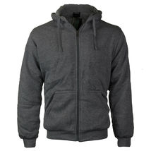 Men's Premium Athletic Soft Sherpa Lined Fleece Zip Up Hoodie Sweater Jacket image 6