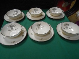 Magnificent  Vintage FRANCISCAN Fine China REGENCY Set of 6 CUPS & SAUCERS - $32.98