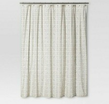 Threshold Shapes Fabric Shower Curtain Black Ivory White 72 x 72 Defects - $19.13