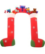 Halloween Airblown Inflatable Stockings with Gifts Archway 9 1/2'  - $148.89
