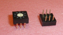 NEW 10PCS SW-54-RH3H-10RB-UMTS Rotary DIP SWITCH 6-PIN Gold PCB 10 POSITION - $18.75