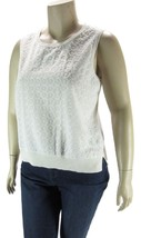 TOMMY HILFIGER Women's Embroidered Front Shell Knit Top- White NWOT XL - $9.07