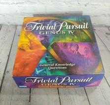 Trivial Pursuit Genus IV Board Game Master 4 Trivia Card Question Q&A - $19.79