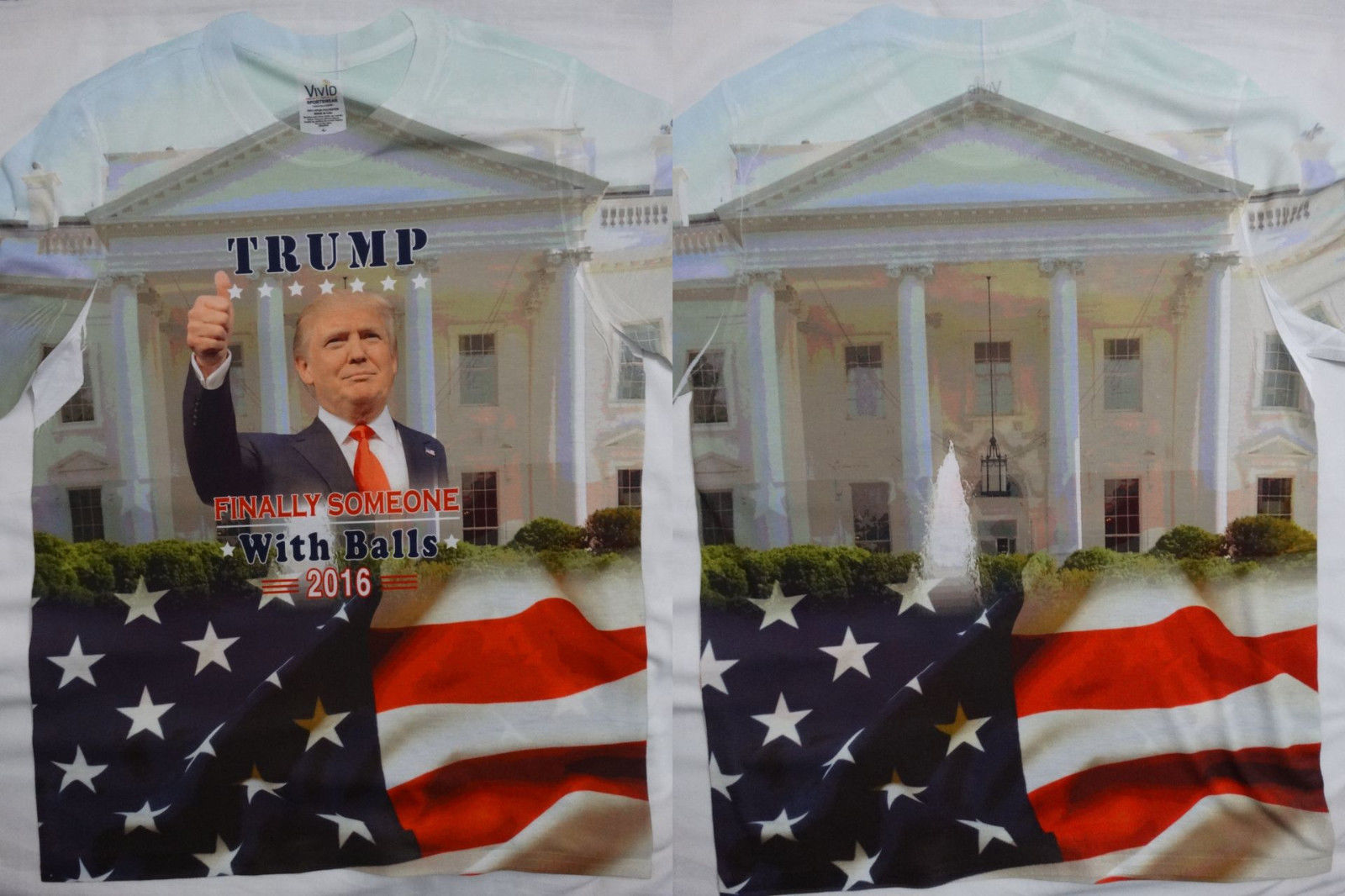 Donald Trump Some One With Balls Front And Back Sublimation USA Flag T-Shirt