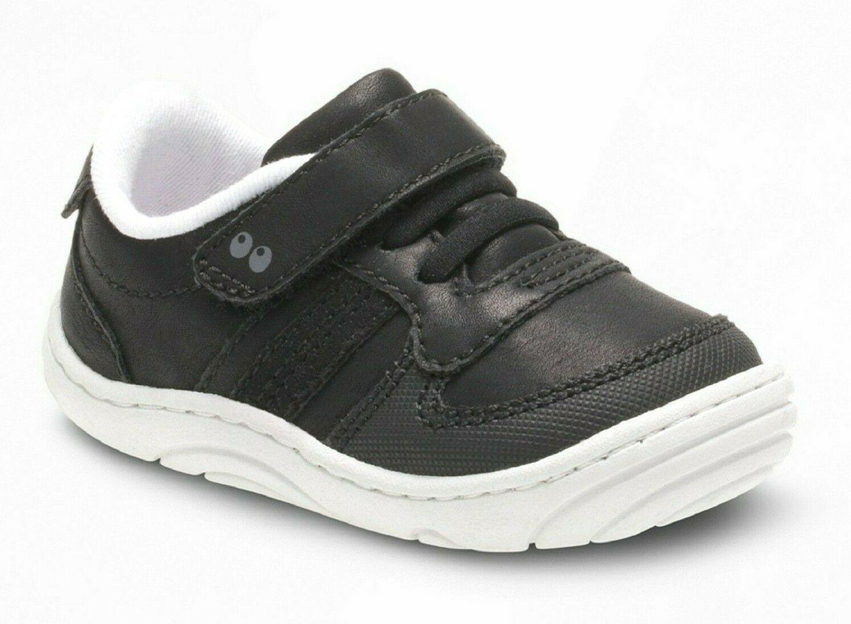 Baby Toddler Boys Surprize by Stride Rite Alec Hook & Loop Sneakers Black White