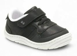 Baby Toddler Boys Surprize by Stride Rite Alec Hook & Loop Sneakers Black White image 1
