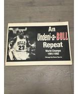Chicago Bulls 1992 Championship Sign Chicago Sun Times Poster Jordan Las... - $25.00