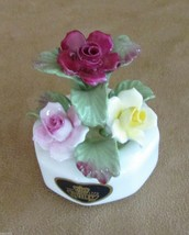 "Aynsley flower Bouquet roses porcelain 3"" small floral arrangement China... - $29.50"