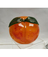 Beautiful CHUCK BOUX for SIGMA Art Glass Studio GEORGIA PEACH PAPERWEIGH... - $95.00