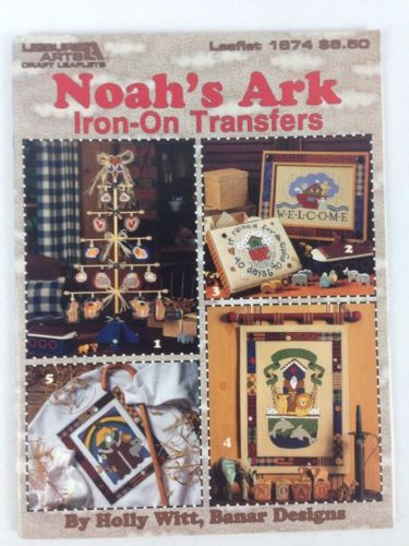 Noah's Ark Iron On Transfer Book #1674 Transfers Leisure Arts Craft Designs