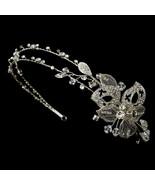 Vintage Silver Swarovski Rhinestone Butterfly Bridal Wedding Side Headband - €75,85 EUR