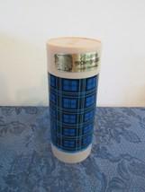 Vintage Aladdin's Brown Bagger Food Thermos Bottle Quart Blue Plaid  - $28.76