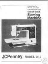 Penney JCPenney Penncrest 6915 Sewing Machine Owner Manual L - $13.99
