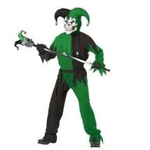 Boys Evil Jester Green Clown Skeleton Zombie Halloween Costume-size 8/10 - $37.62