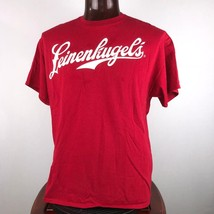 Leinenkugels XL Mens Red Graphic T Shirt Join Us Out Here Flaws - $26.91