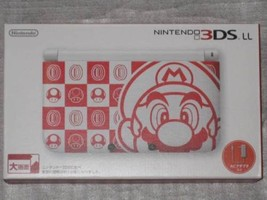 Nintendo 3DS LL Mario White Video Game Console NTT Limited Edition Used D07 - $580.00