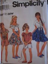 8309 Vintage Simplicity SEWING Pattern Girls Shorts Top Skirt UNCUT EASY... - $4.89