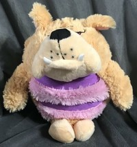 "KooKoo Kennel 6"" Barking Plush- Bull Dog Puppy Pup Toy Stuffed Animal B43 - $13.25"