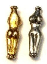 Womans Body Female Fine Pewter Bead - Vertical Hole image 1