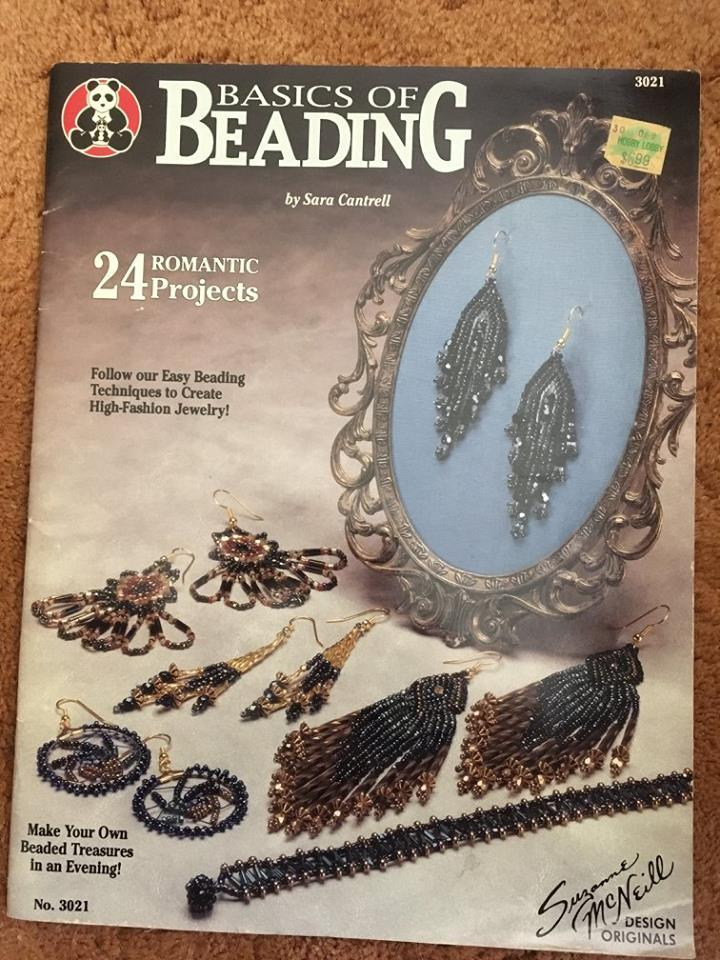 Beading Book, Seed/Bugle Beads, 24 Projects, Sara Cantrell, Pre-owned, Crafting