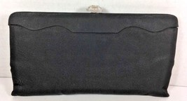 LEWIS True Vintage Slim Black Fabric Evening Bag - $16.48