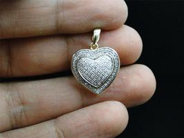 Women's Heart Shape Pendant 14k Yellow Gold Plated 925 Silver Round Cut White CZ - $78.68