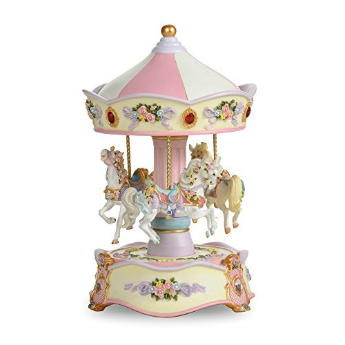 THE SAN FRANCISCO MUSIC BOX COMPANY Classic Horse Musical Carousel