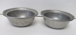 "Wilton Heavyweight Pewter 4 3/4"" Custard Bowls Cups Condiment Set of 2 R... - $34.94"