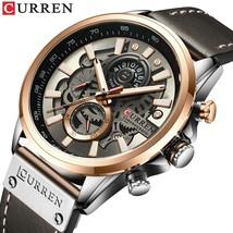 CURREN Men's creative, chronograph quartz wristwatch with leather strap.M-8380. - $44.99