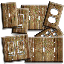 Rustic Wood Tree Of Life Antique Design Light Switch Outlet Plates Bedroom Decor - $9.99+