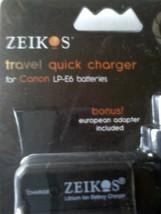 New Zeikos Canon Camera Battery Charger Select LP-E6 Or LP-E8 - $14.99