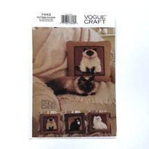 Vogue 7445 Plush Cat Pillows Long Hair Kitty Uncut Sewing Pattern FF - $8.75