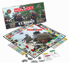 New In Box Monopoly U.S. MARINES Edition Board Game USMC Cello Torn - $72.74